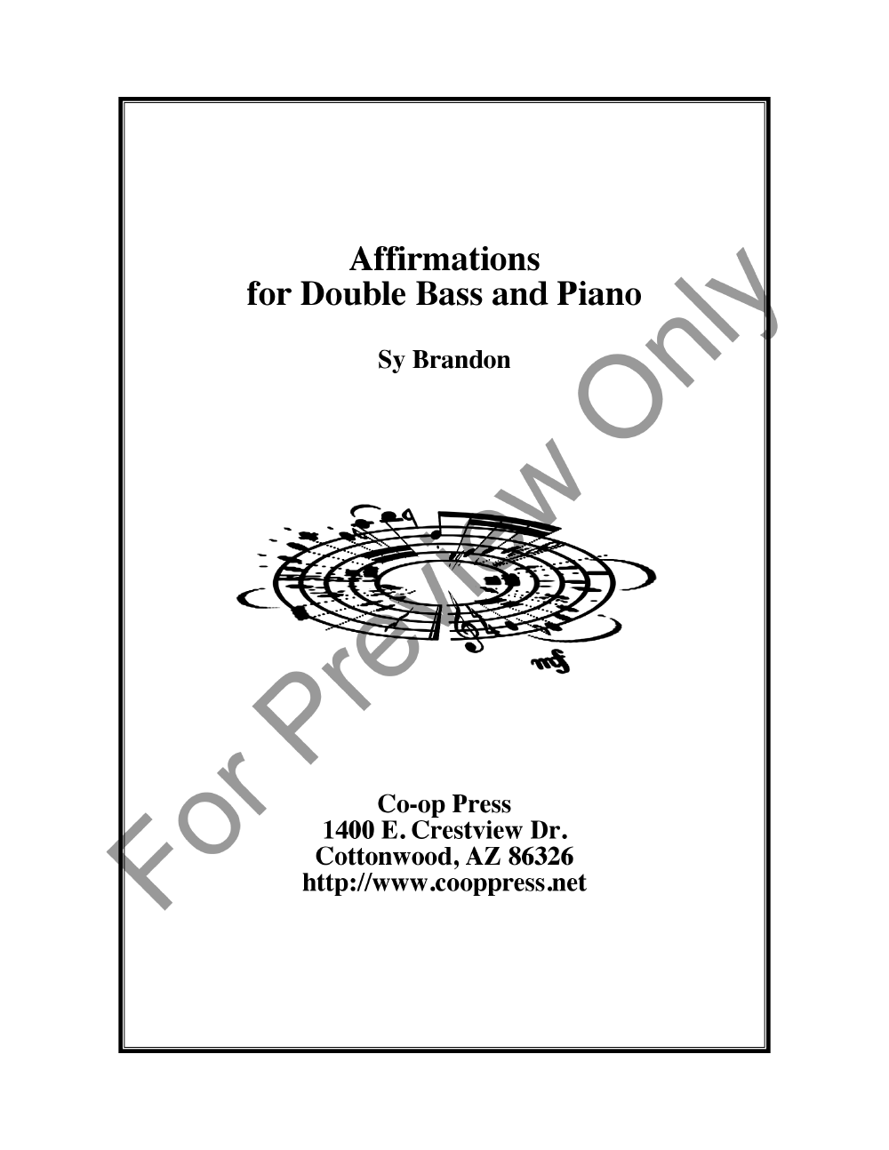 Affirmations for Double Bass and Piano Thumbnail