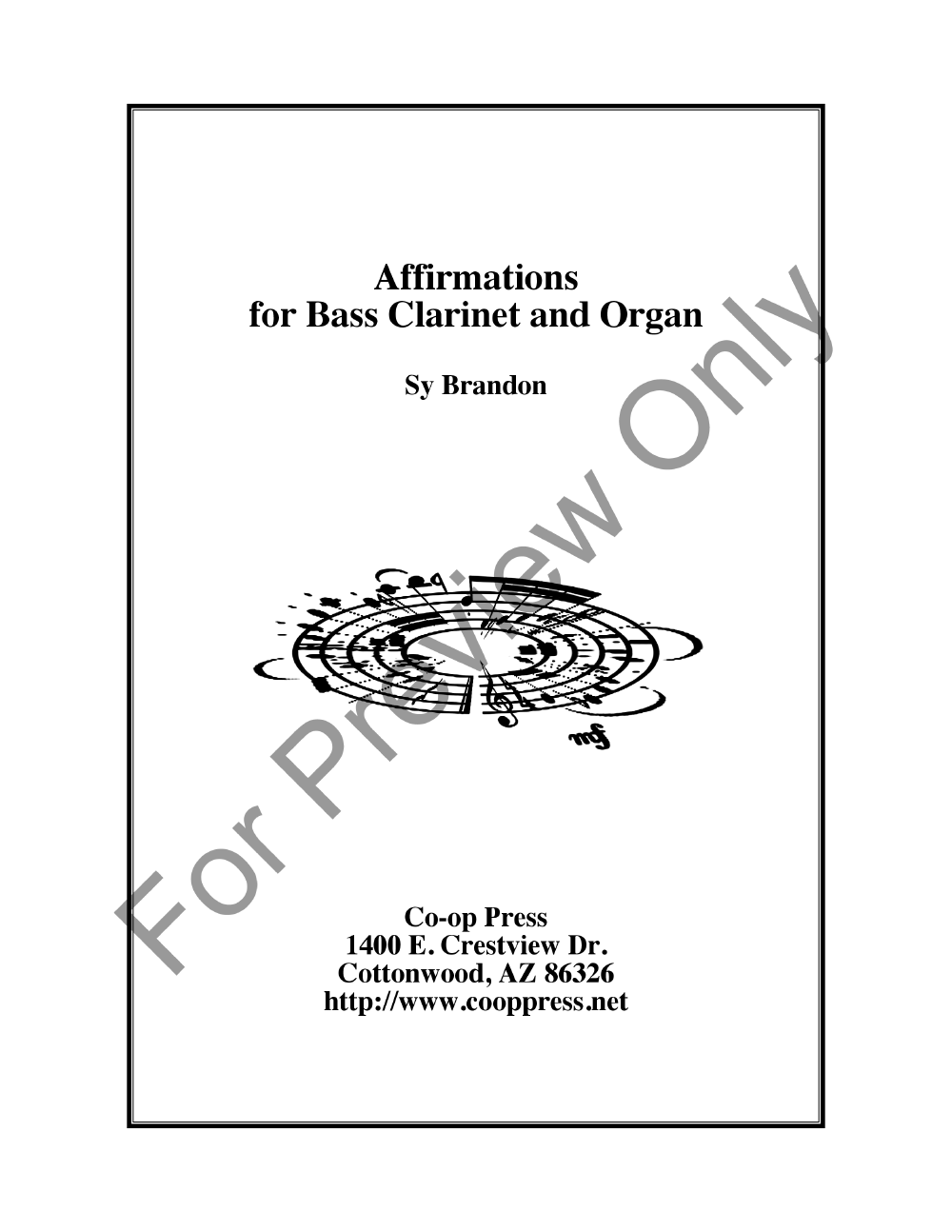 Affirmations for Bass Clarinet and Organ Thumbnail