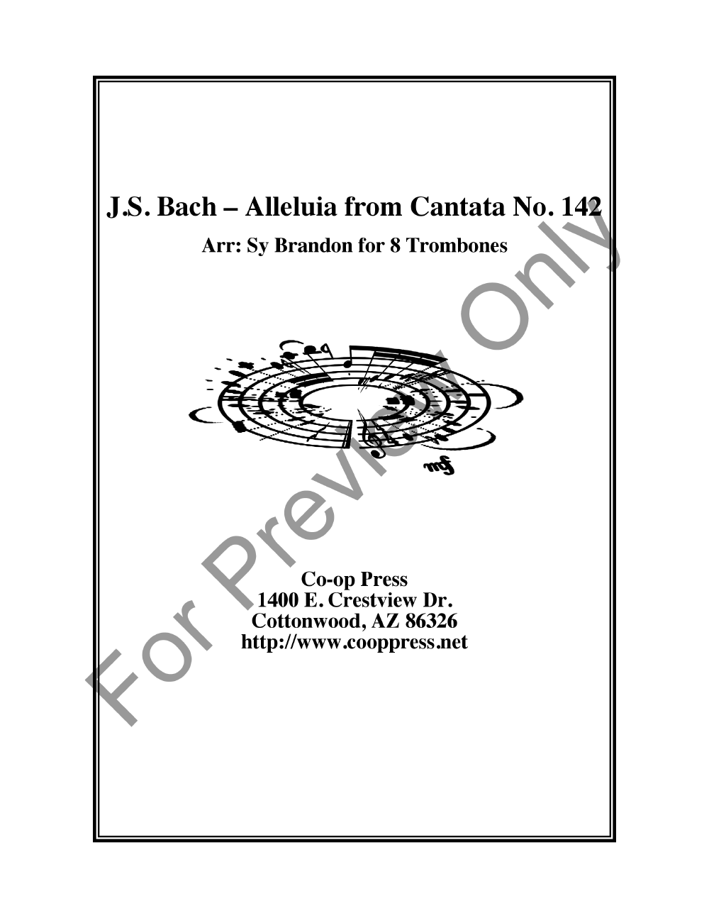 Alleluia from Cantata 142 Thumbnail