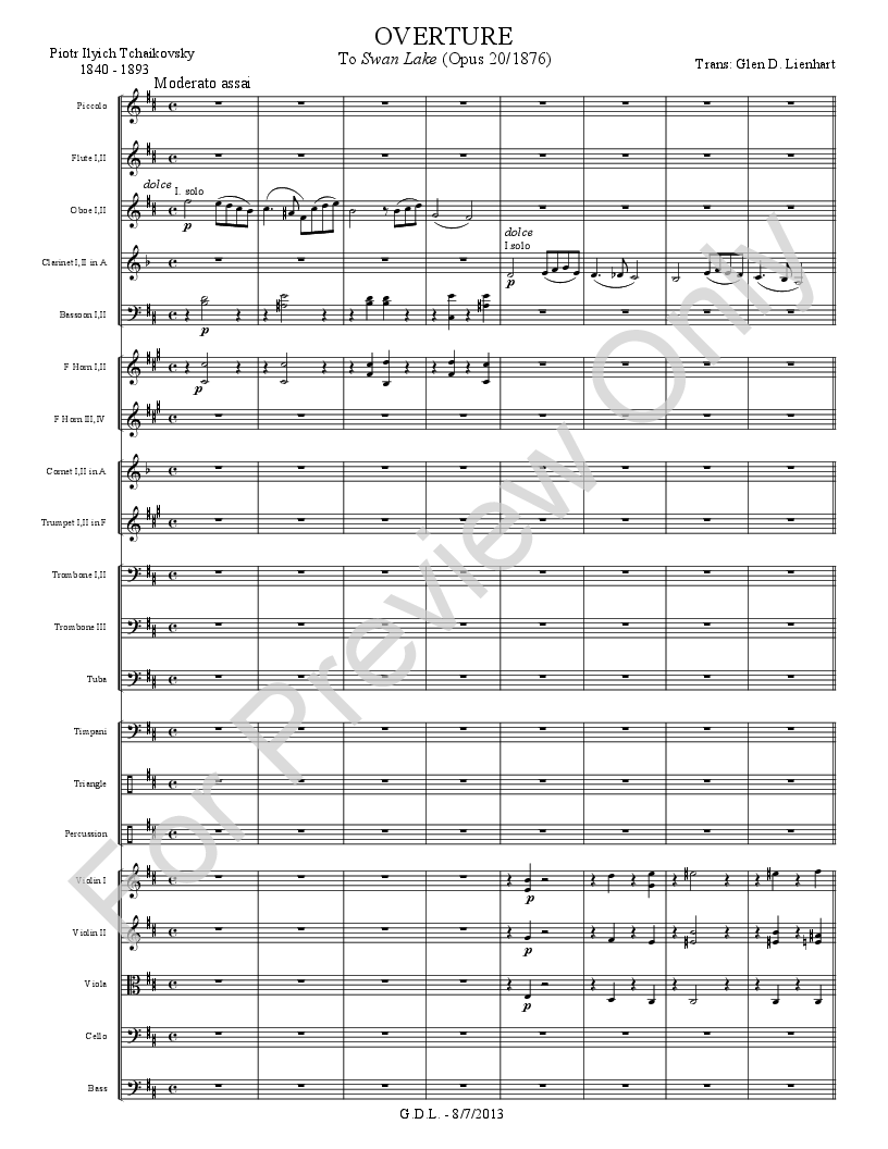 Swan Lake - Overture by Piotr Ilich Tchaikovsky | J W