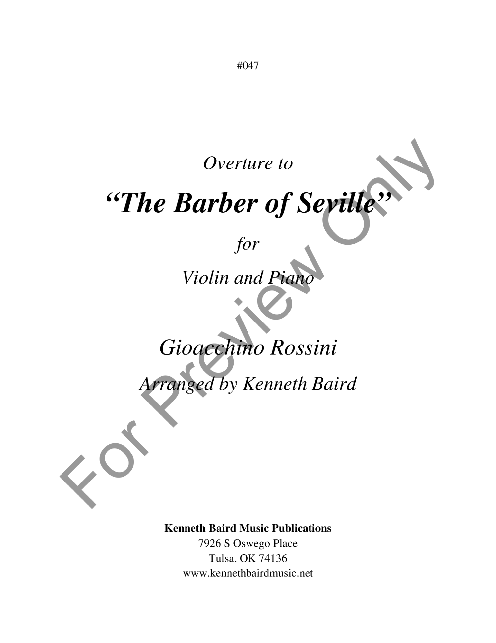 Barber of Seville, Overture to the Thumbnail