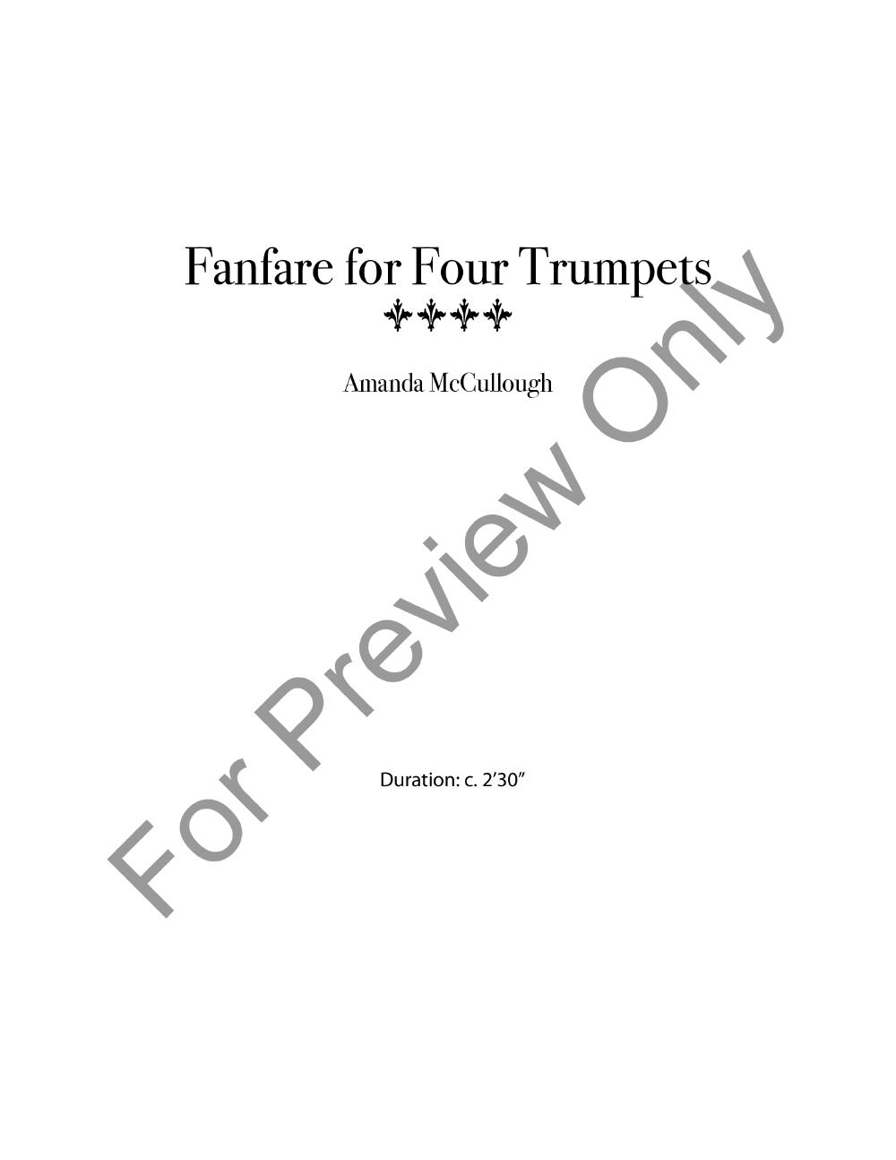 Fanfare for Four Trumpets Thumbnail