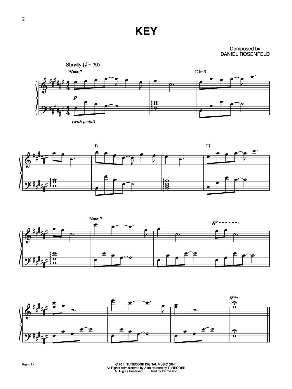 Minecraft Volume Alpha (Piano) by Daniel Rosenfe | J W