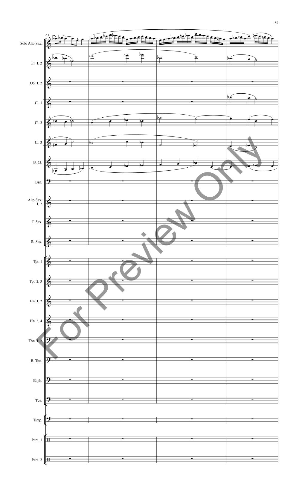 Concertino for Alto Saxophone and Band Thumbnail