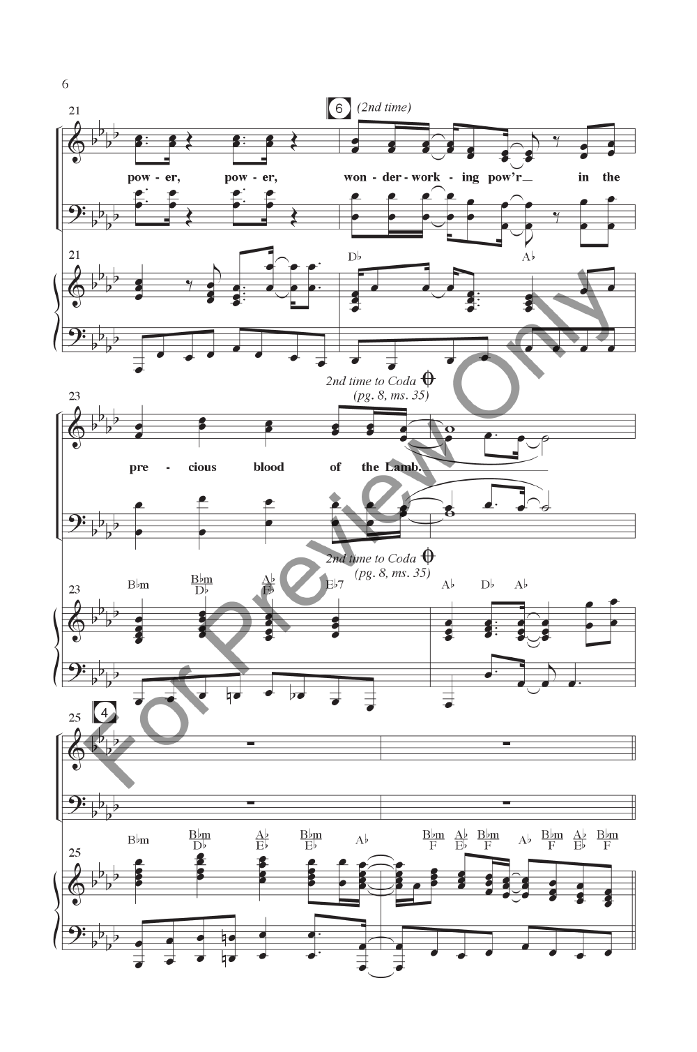 There's Power in the Blood (SATB ) by Lewis | J W  Pepper Sheet Music