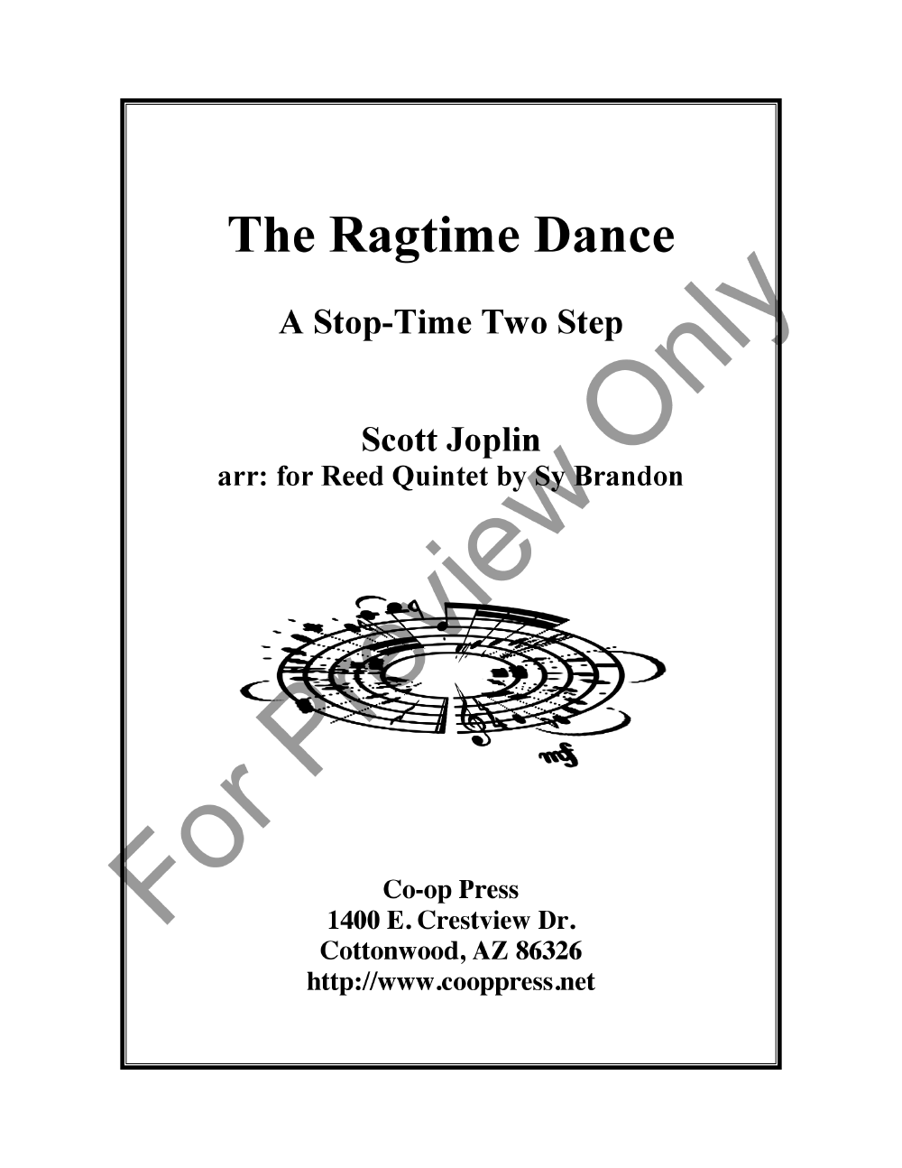 The Ragtime Dance for Reed Quintet Thumbnail