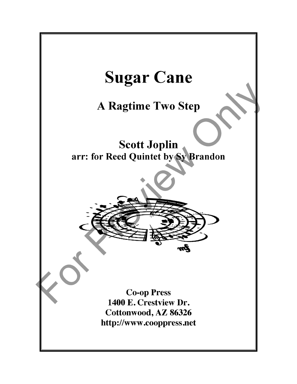 The Sugar Cane for Reed Quintet Thumbnail