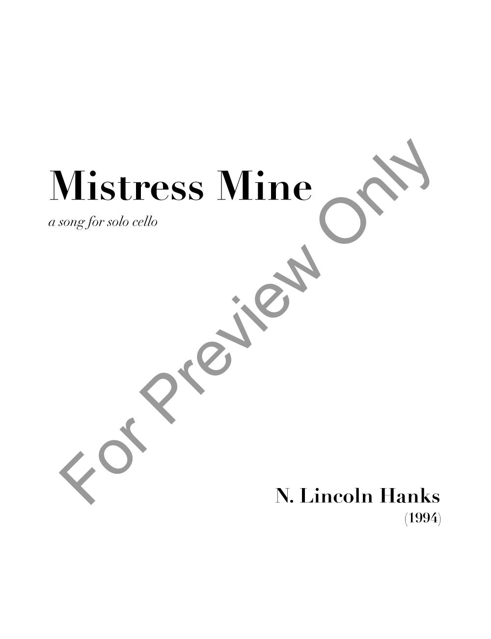 Mistress Mine Thumbnail