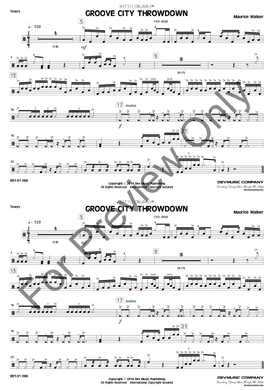 Groove City Throwdown by Maurice Walker| J W  Pepper Sheet Music