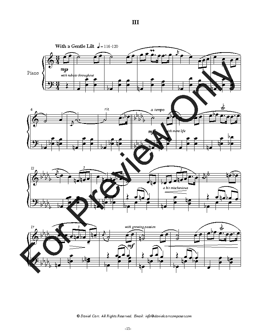 Three Preludes for Solo Piano Thumbnail