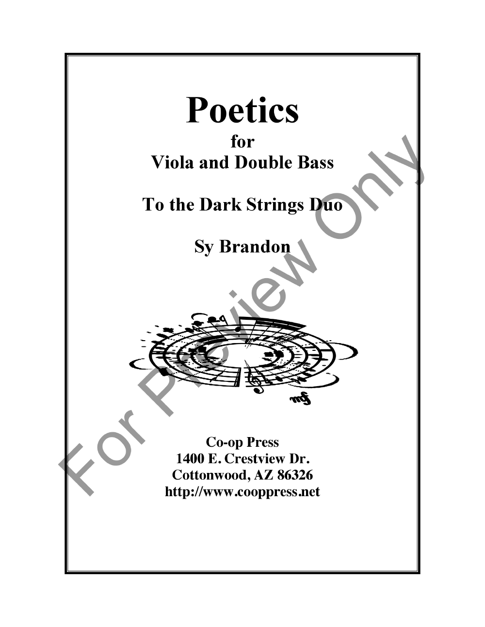 Poetics for Viola and Double Bass Thumbnail