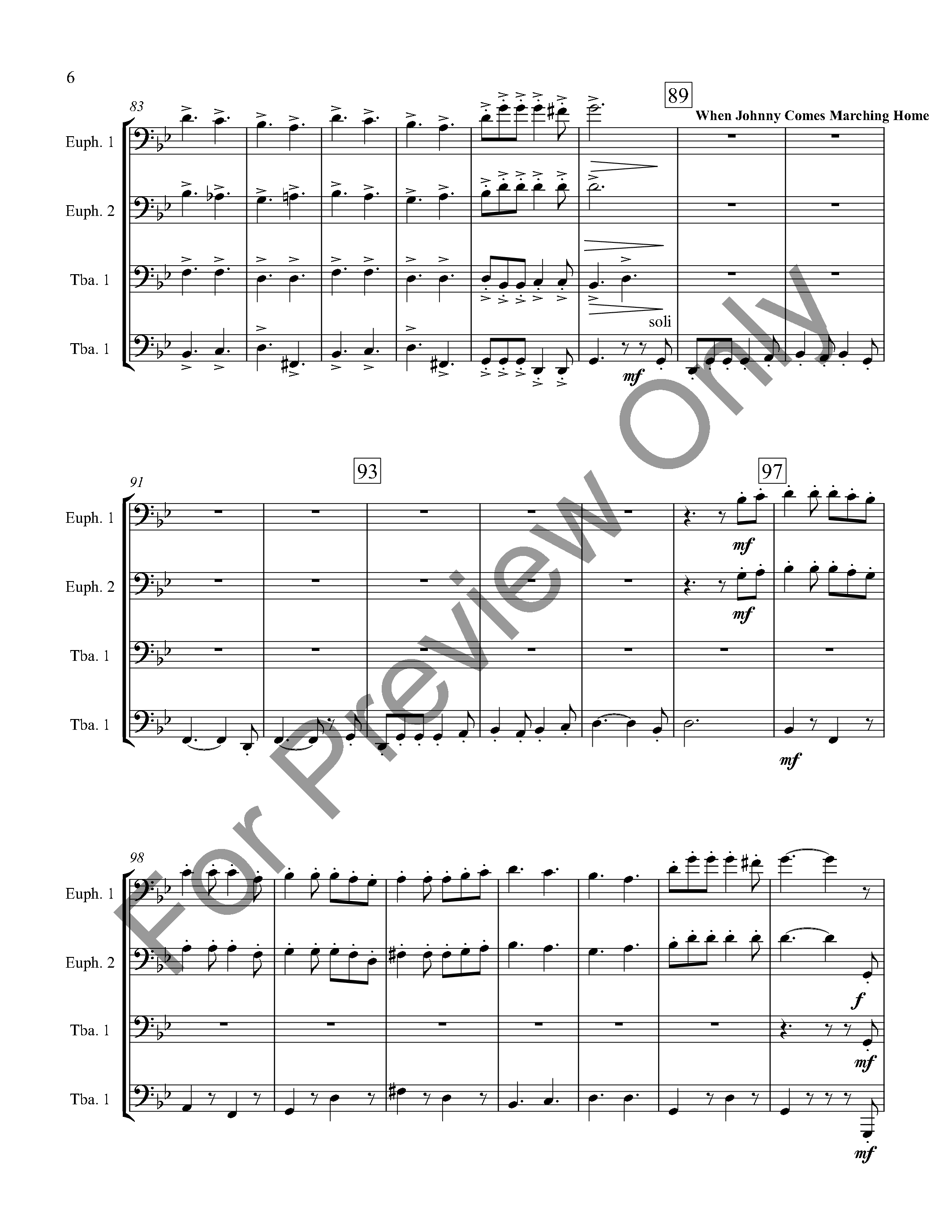 Civil War Suite for Tuba/Euphonium Quartet Thumbnail