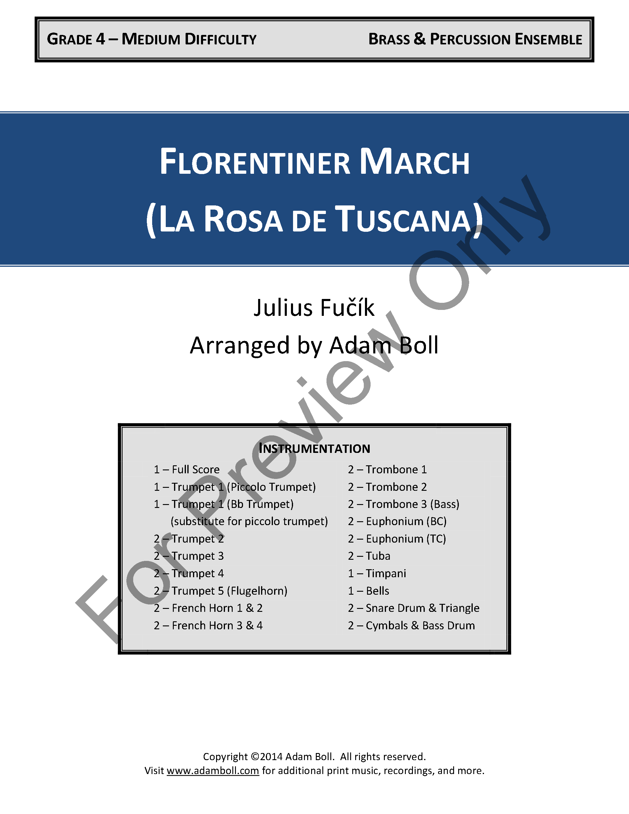 Florentiner March Thumbnail
