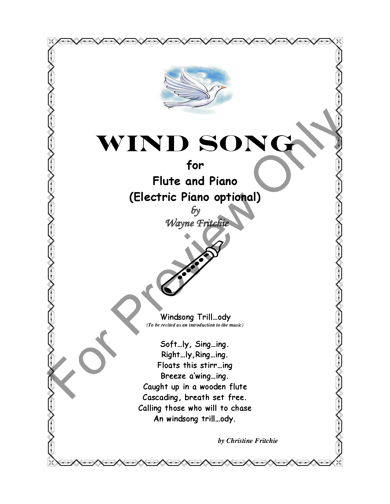 Wind Song (Flute Solo with Piano ) by W | J W  Pepper Sheet Music