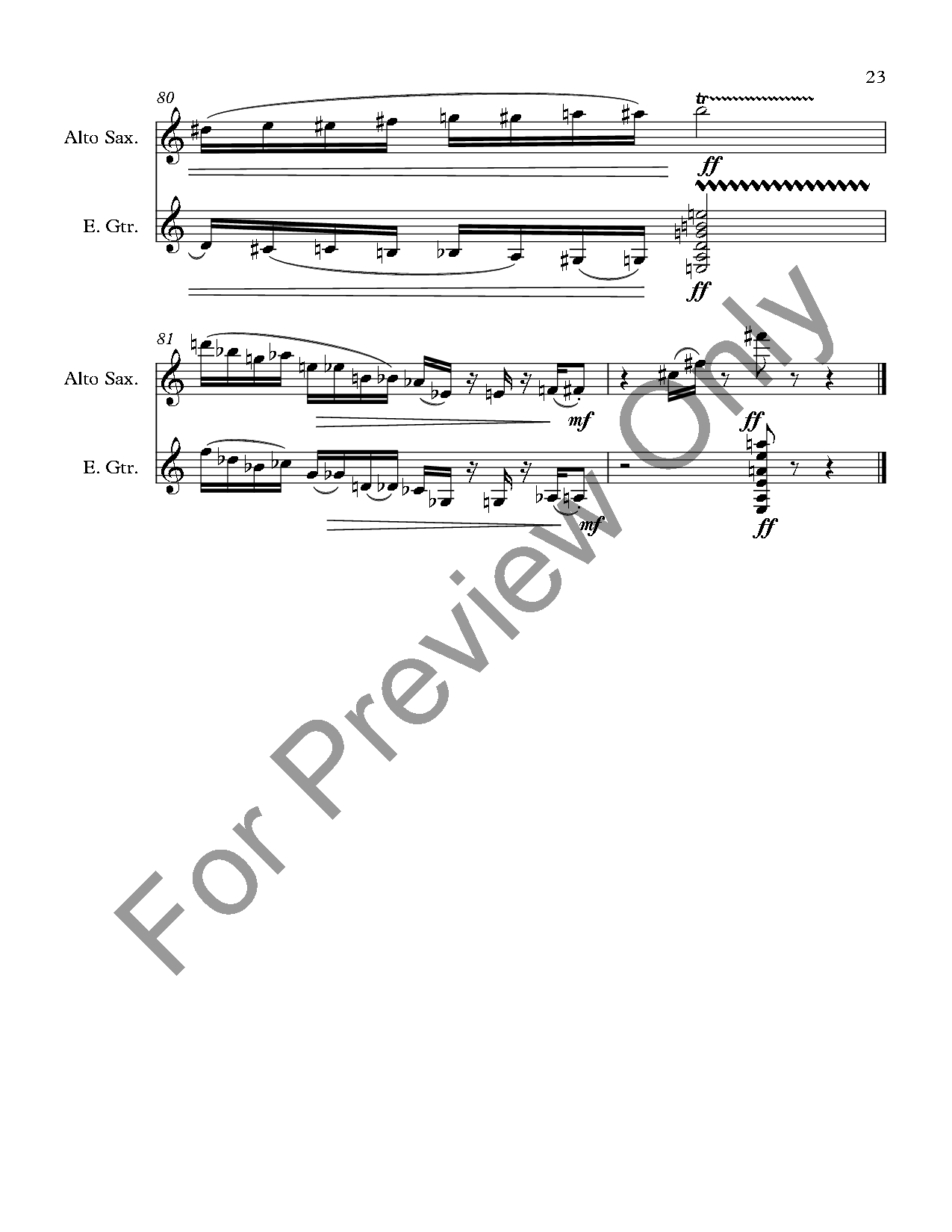 Modern Jazz Suite for Alto Sax and Guitar Thumbnail