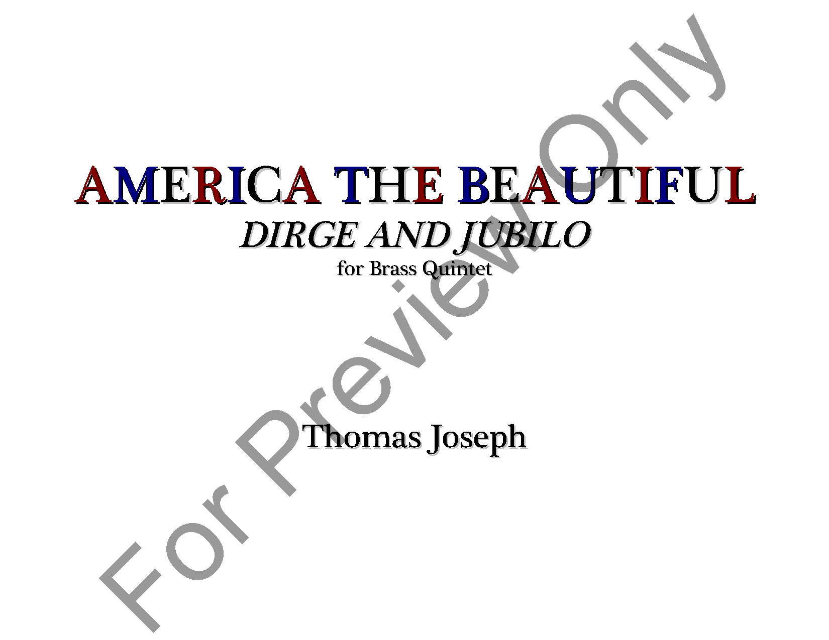 America The Beautiful: Dirge and Jubilo Thumbnail