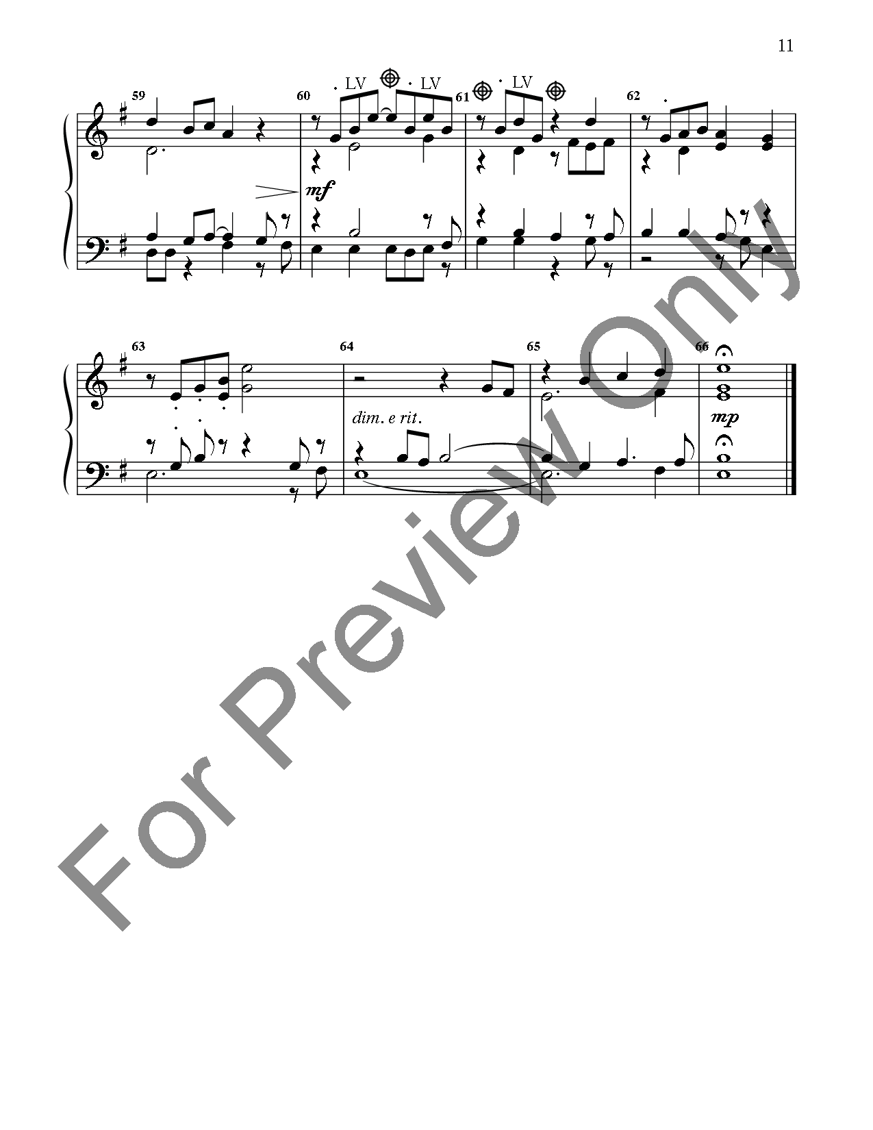 Three Tunes for Six Ringers, No. 1 Thumbnail
