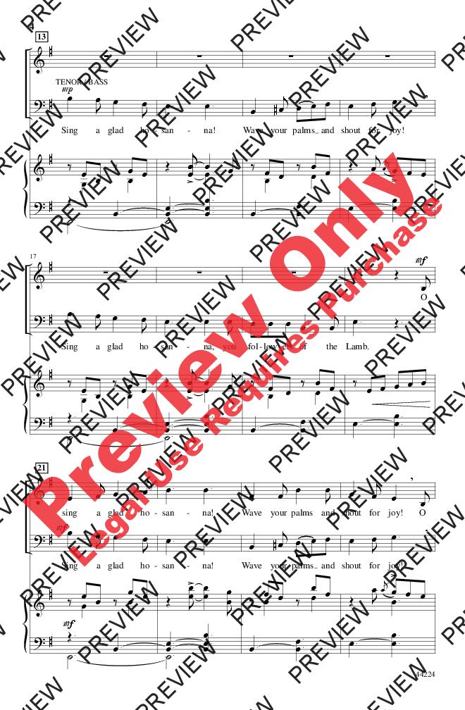 Sing a Glad Hosanna! Thumbnail