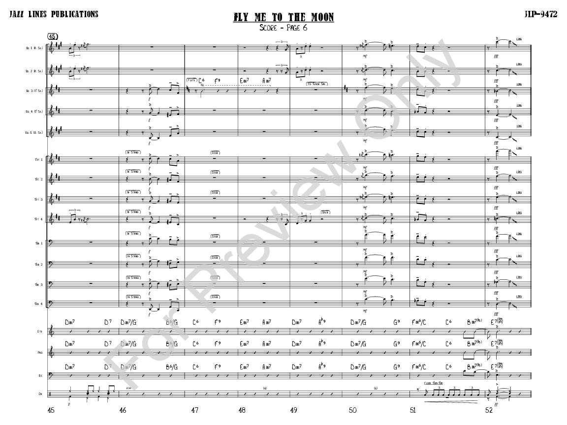 Fly Me to the Moon arr  Quincy Jones  J W  Pepper Sheet Music