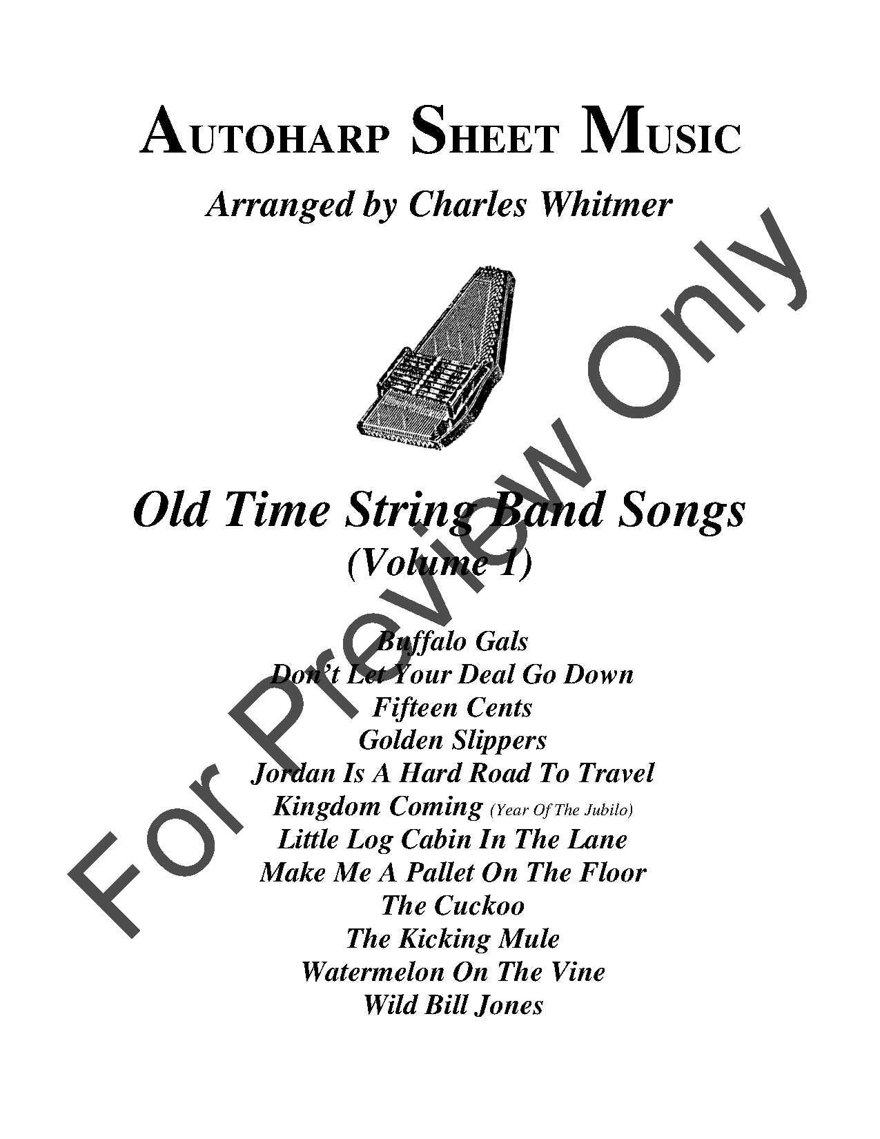 Old Time String Band Songs, Volume 1 by Various/T | J W