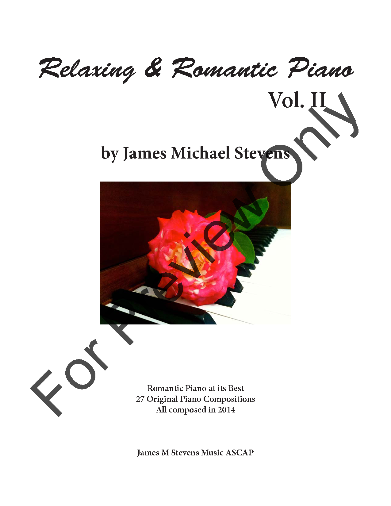 Relaxing & Romantic Piano, Volume II Thumbnail