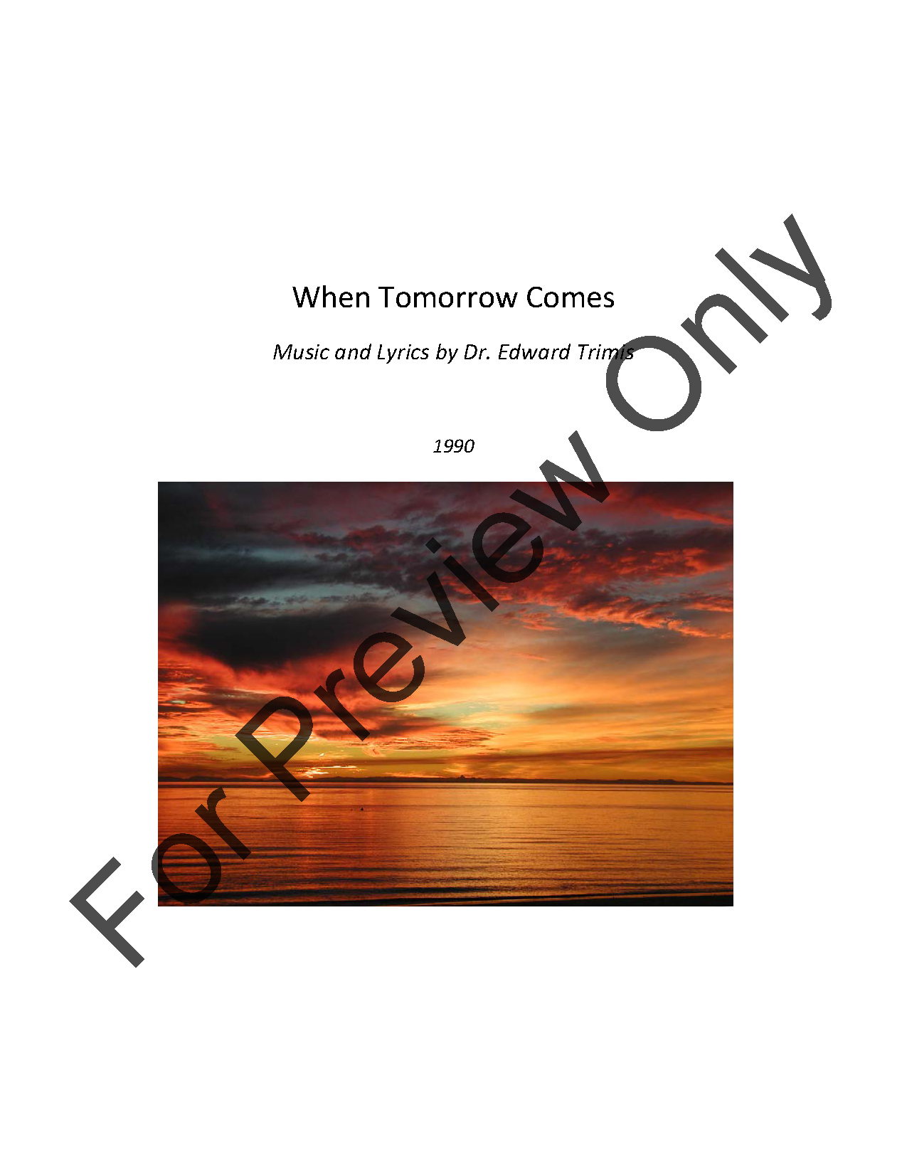 When Tomorrow Comes Thumbnail