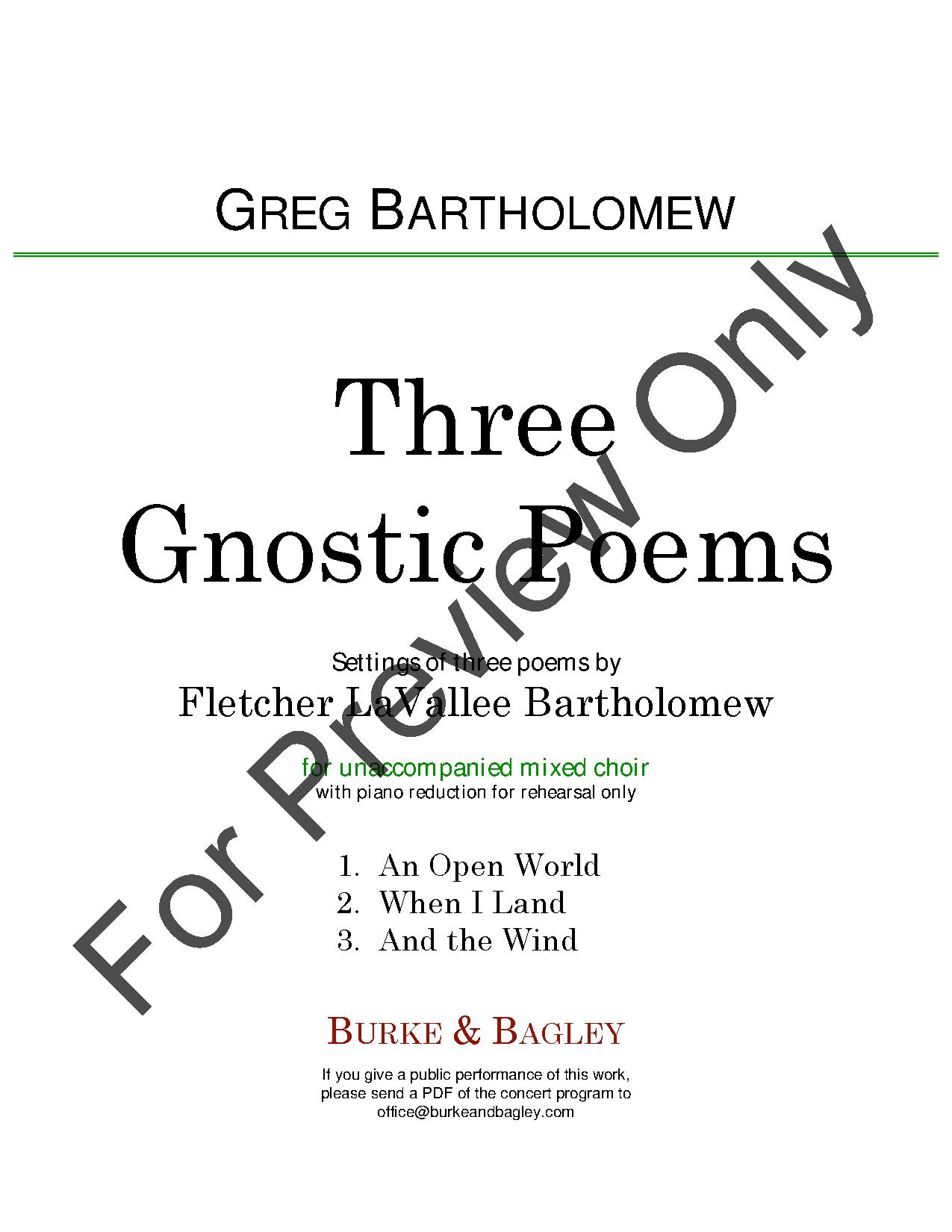 Three Gnostic Poems Thumbnail