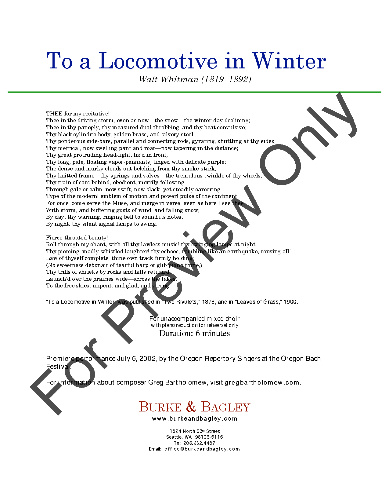 To a Locomotive in Winter Thumbnail