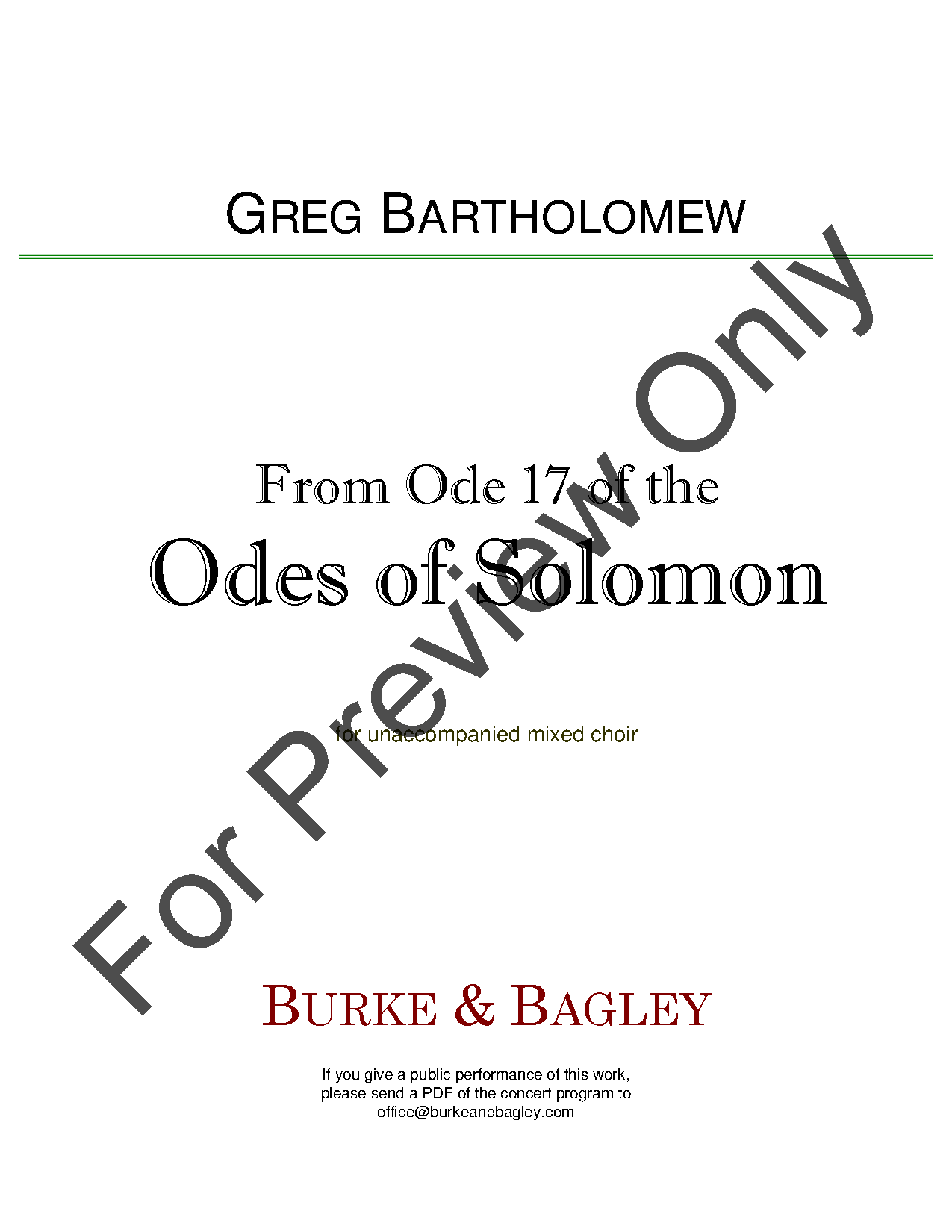 From Ode 17 of the Odes of Solomon Thumbnail