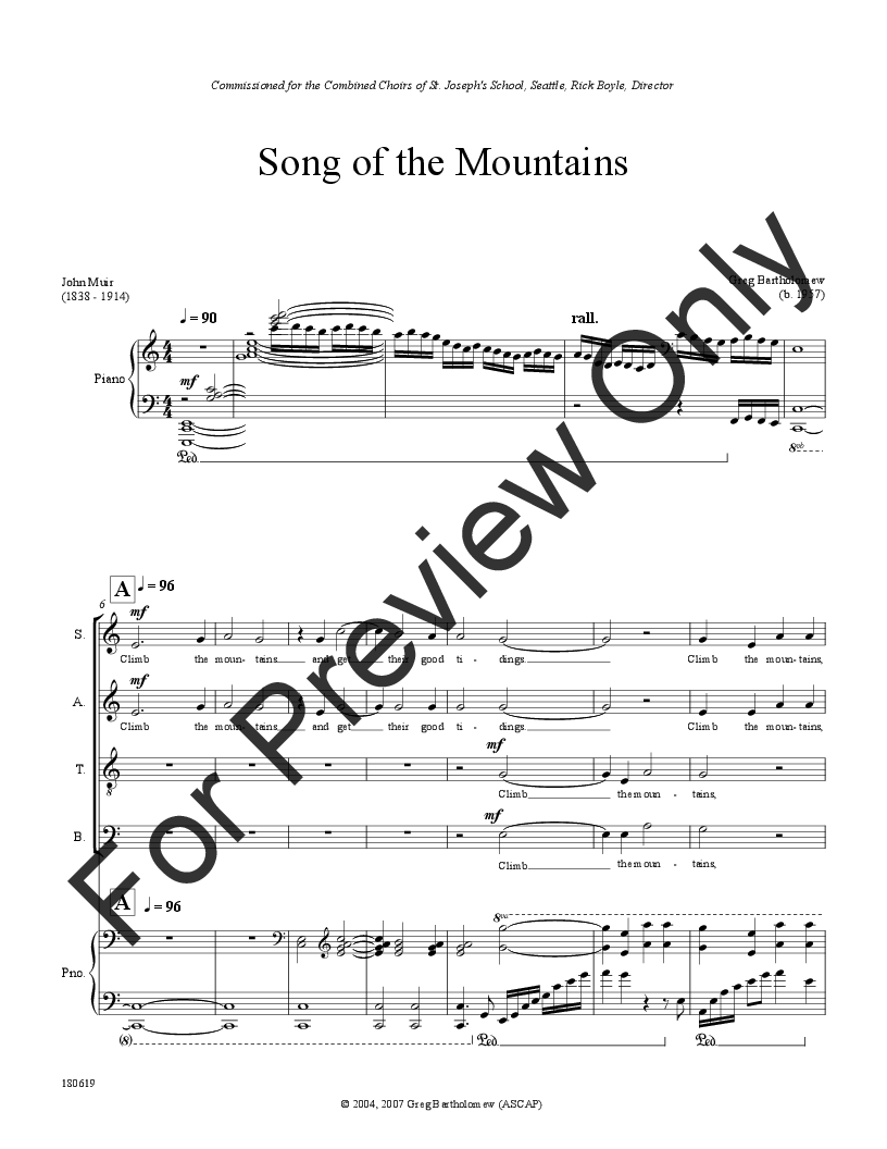 Song of the Mountains Thumbnail