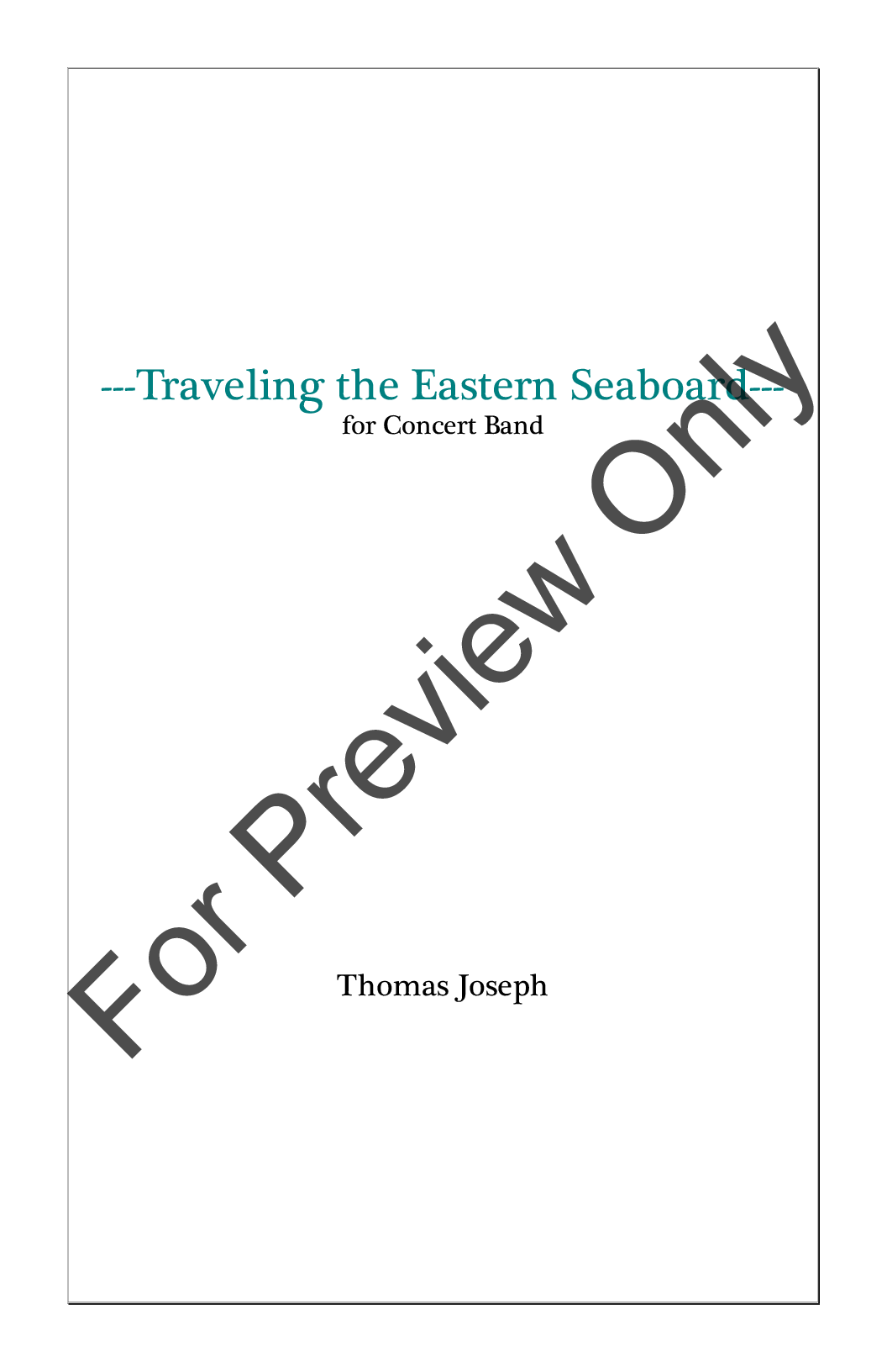 Traveling the Eastern Seaboard Thumbnail