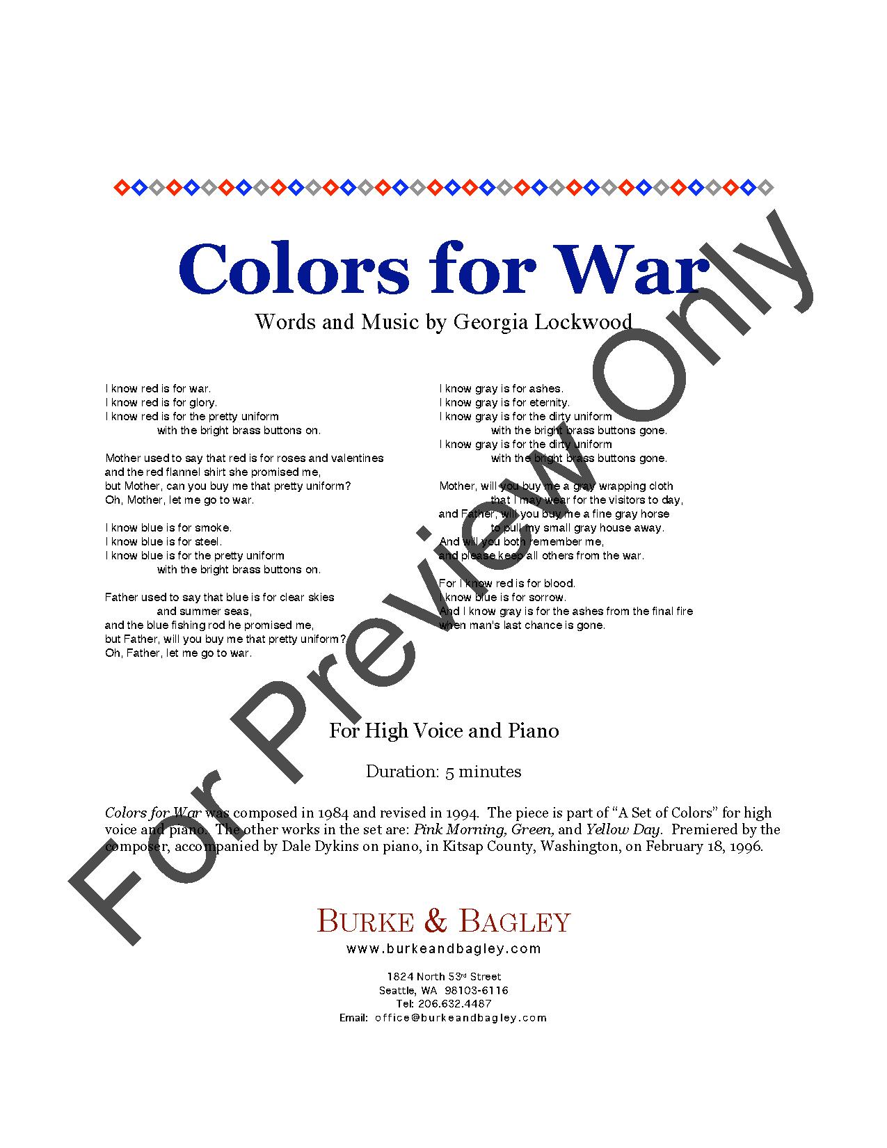 Colors for War Thumbnail