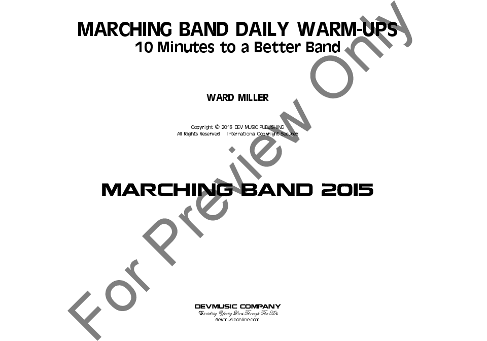 Marching Band Warmups Thumbnail
