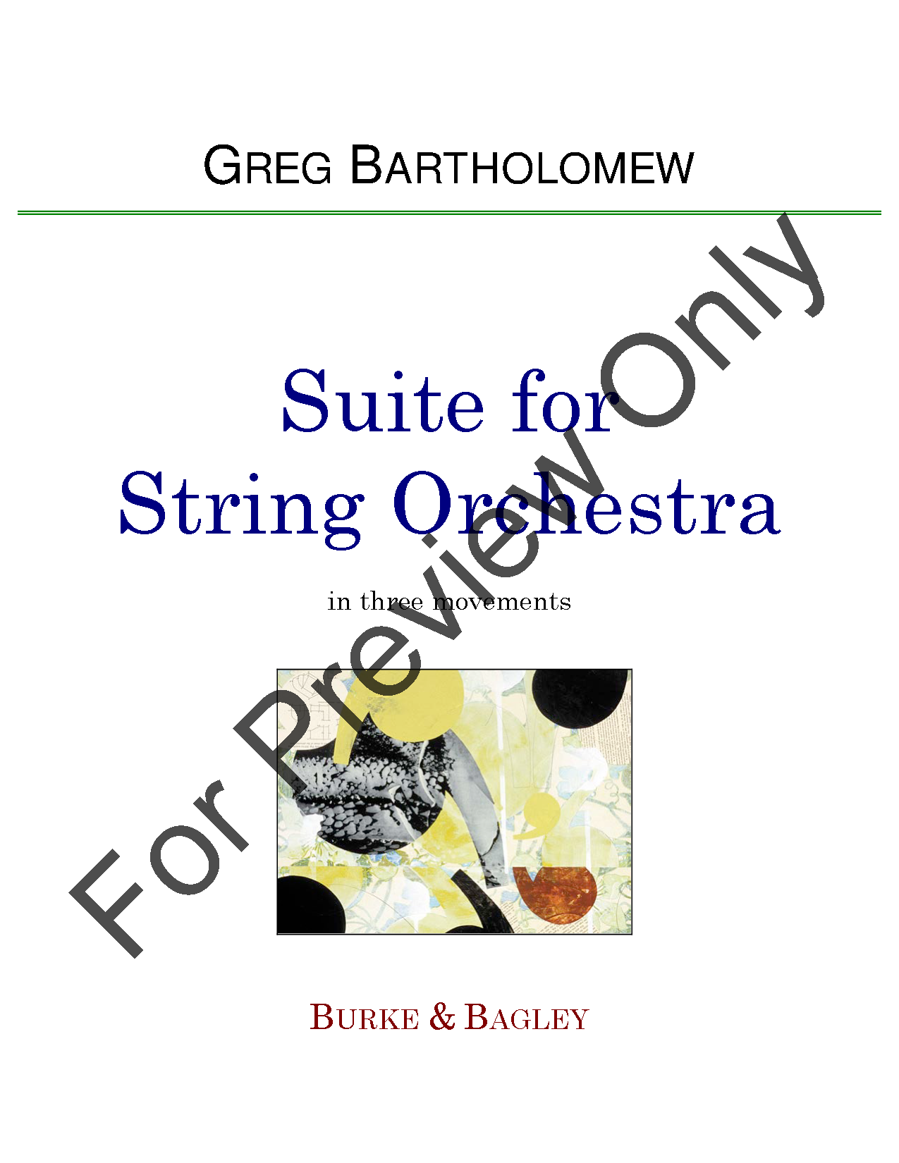 Suite for String Orchestra Thumbnail