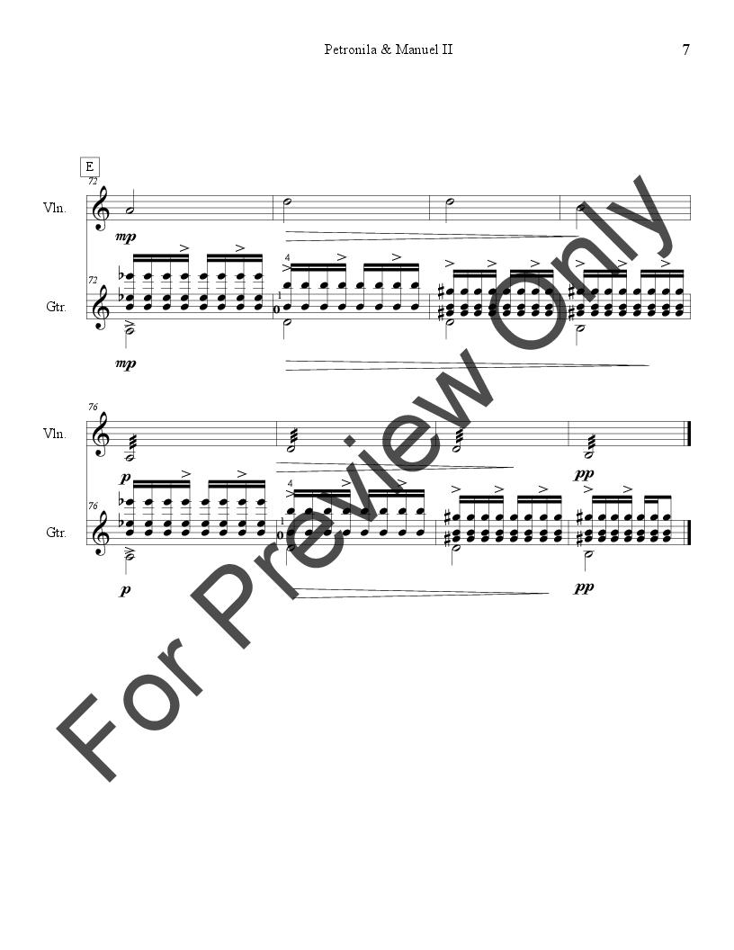 Petronila & Manuel for Violin & Guitar Thumbnail