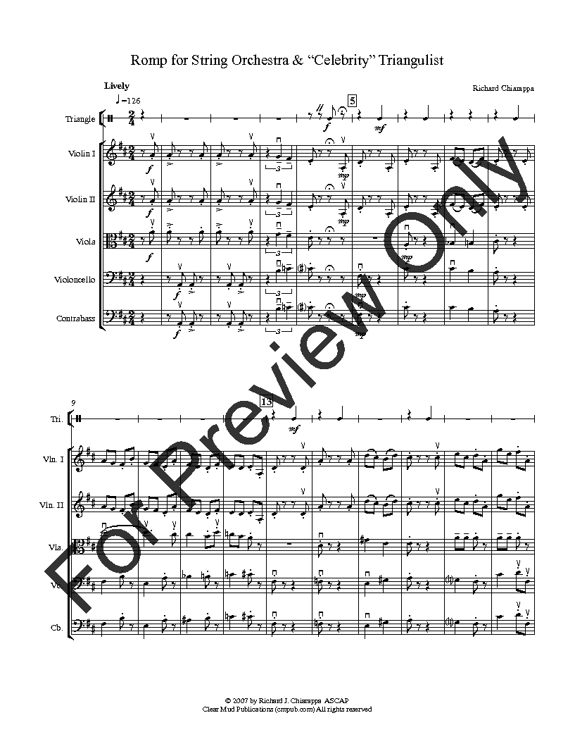 Romp for String Orchestra and 'Celebrity' Triangulist Thumbnail
