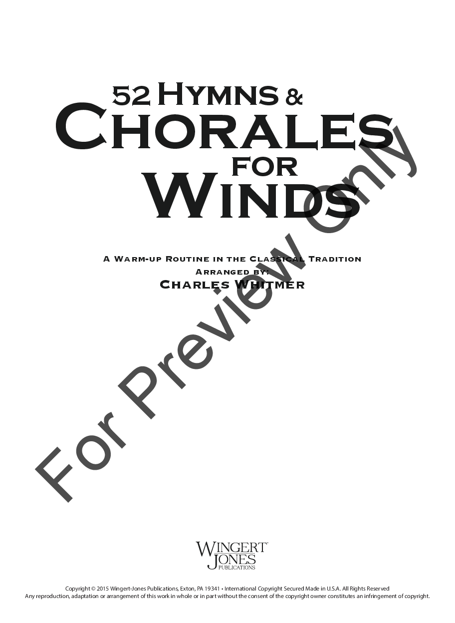 52 Hymns and Chorales for Winds Thumbnail