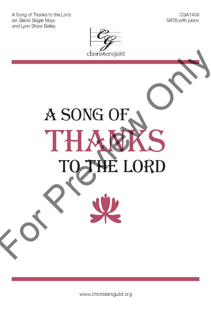 A Song of Thanks to the Lord Thumbnail
