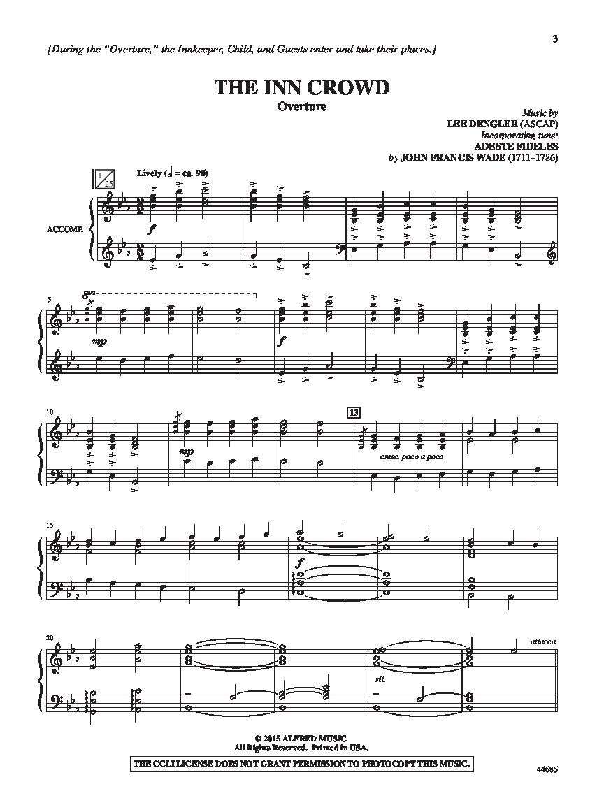 The Inn Crowd Director S Score By Lee Den J W Pepper Sheet Music