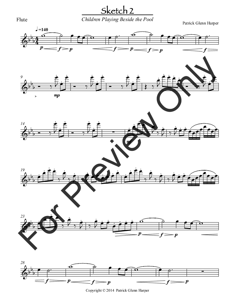 Three Sketches For Woodwind Ensemble Movement 2 J W Pepper Sheet Music
