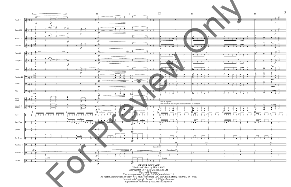 Queen Opener arr  Tom Wallace| J W  Pepper Sheet Music