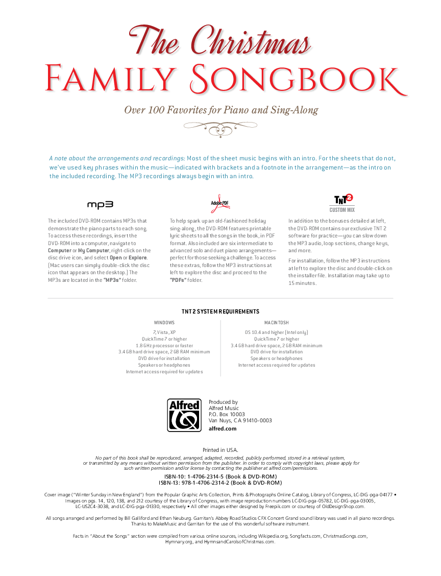 The Christmas Family Songbook (Vocal Book & | J W  Pepper