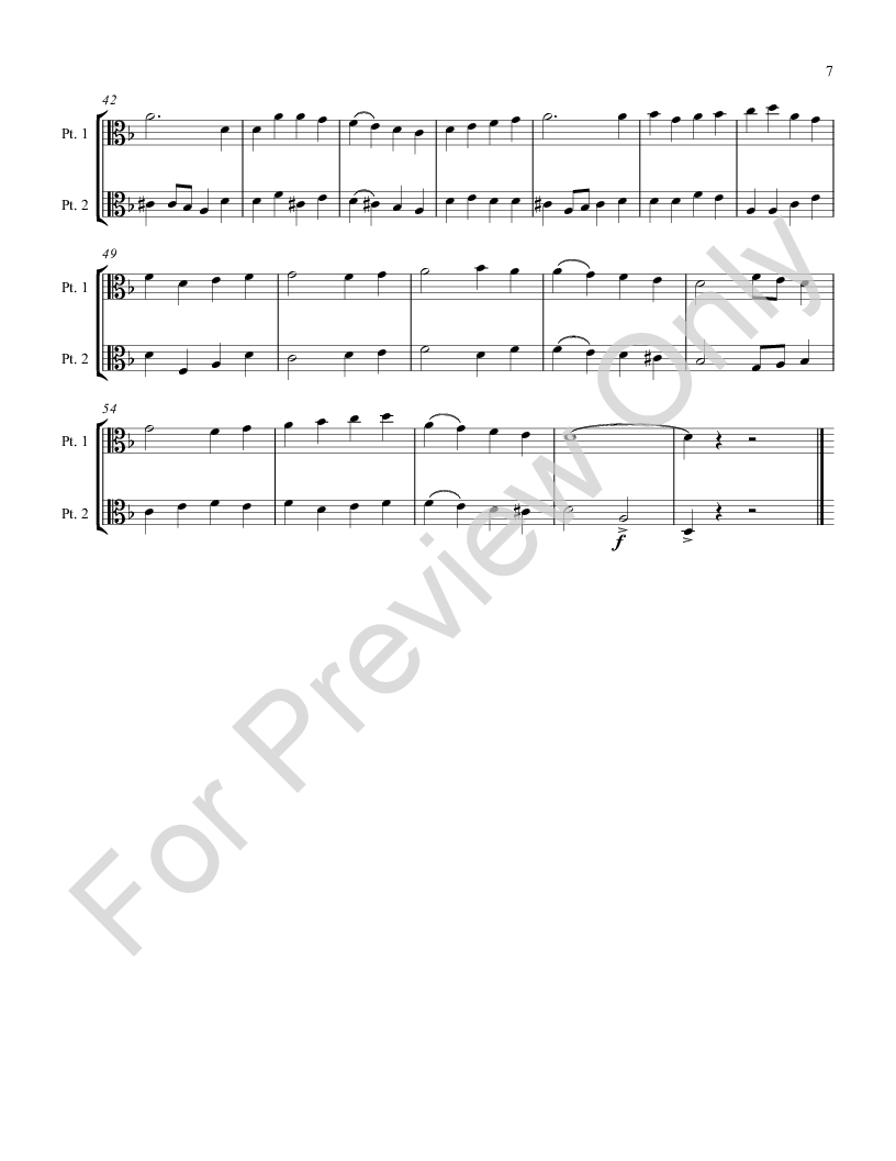 carol duets for all instruments Alto Clef book Thumbnail