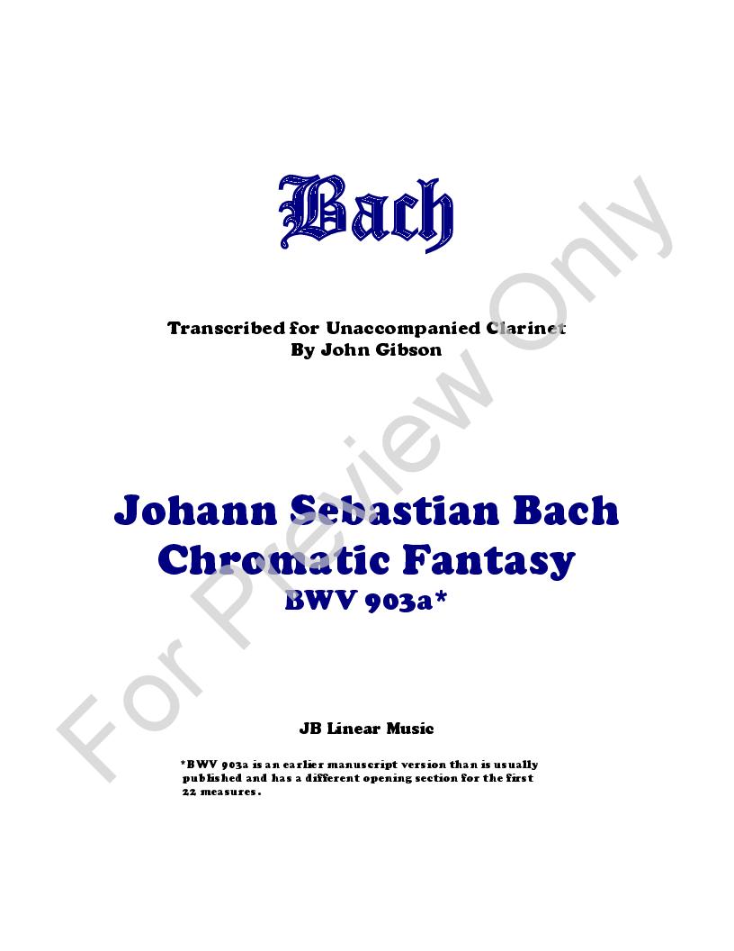 Chromatic Fantasy for Solo Clarinet Thumbnail