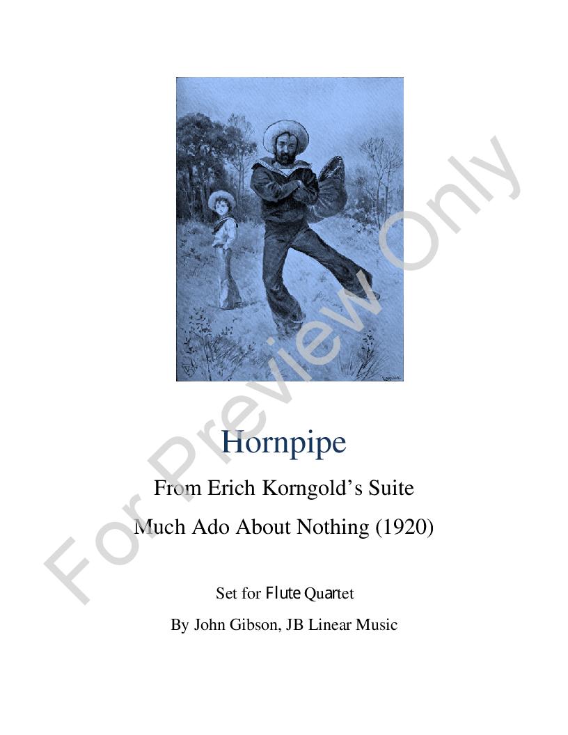Hornpipe for Flute Quartet Thumbnail