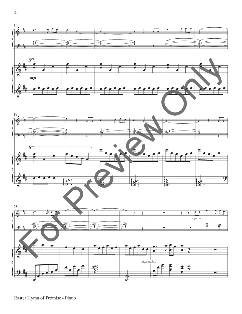 Easter Hymn of Promise by Natalie Sleeth/arr  Joe   J W