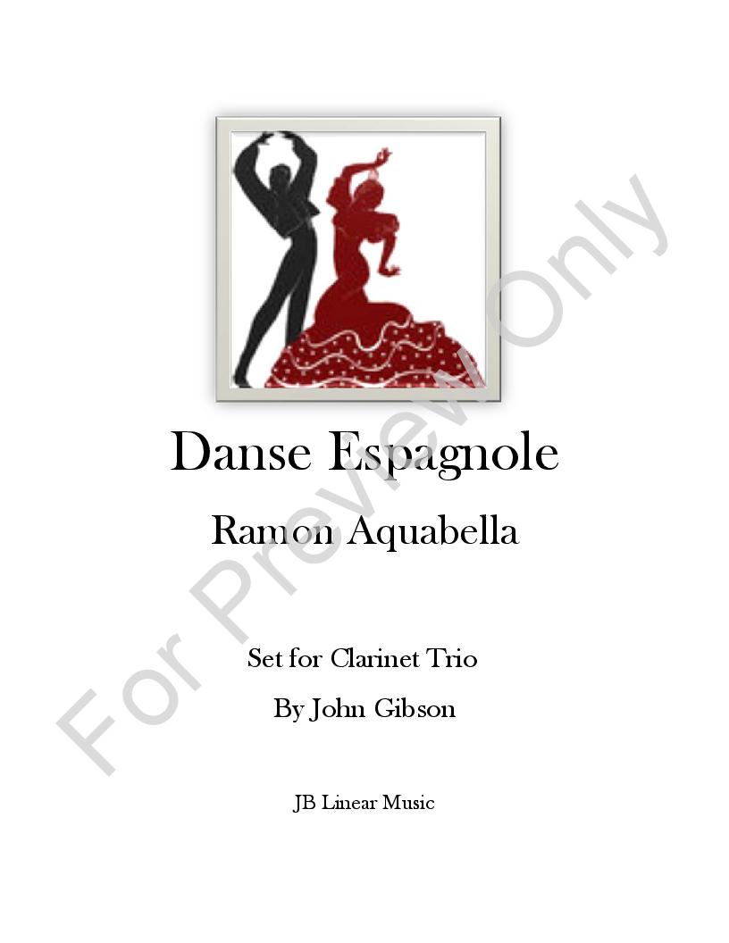 Danse Espagnole for Clarinet Trio Thumbnail