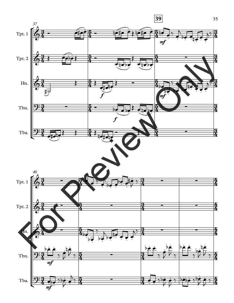 Wonderland for Brass Quintet Thumbnail