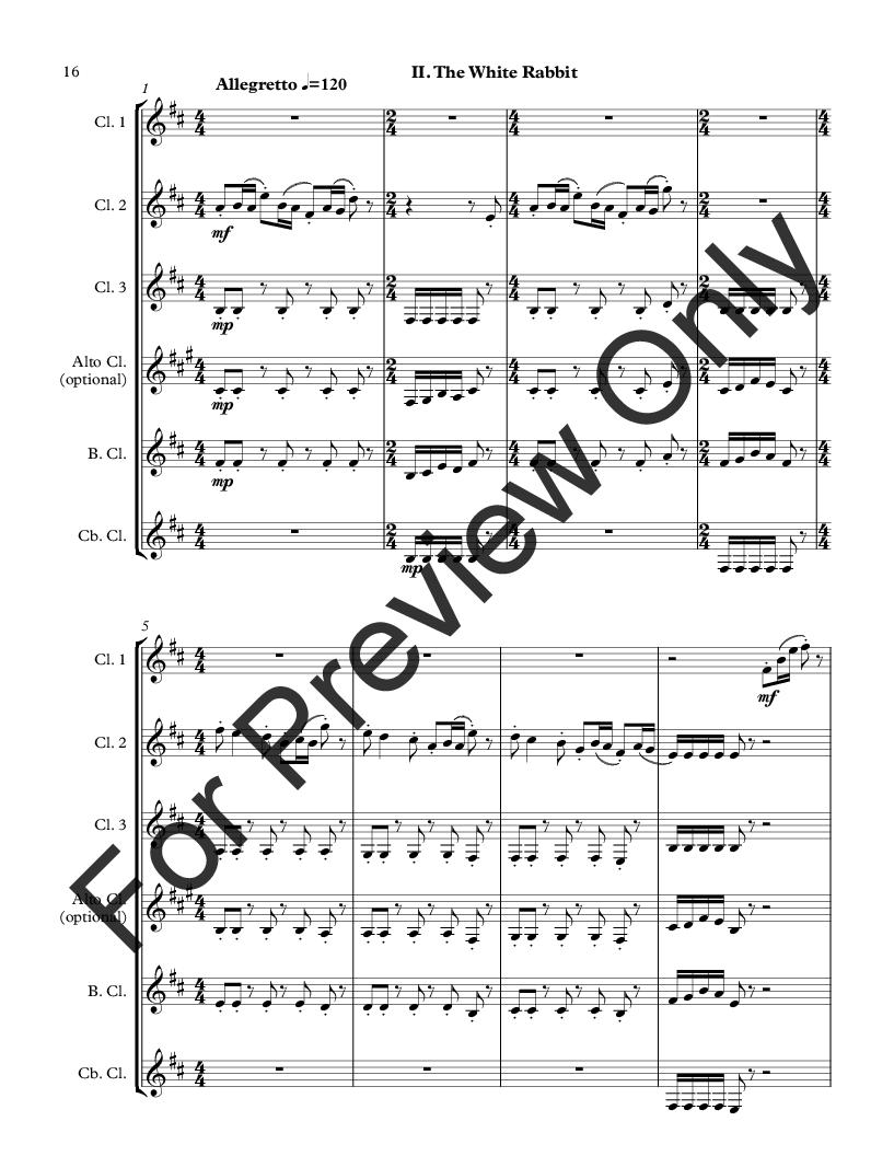 Wonderland for Clarinet Choir Thumbnail