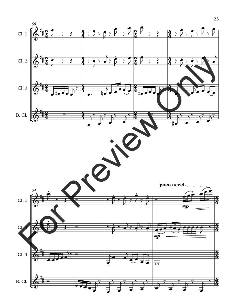 Wonderland for Clarinet Quartet Thumbnail